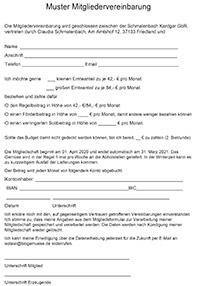 Mitgliedervereinbarung 2021